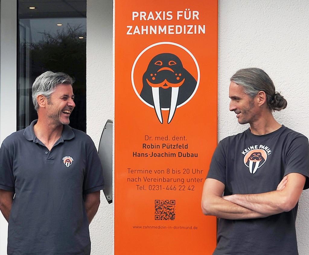 Hans Joachim Dubau (lks.) und Robin Pützfeld